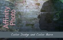 Color Dodge and Color Burn